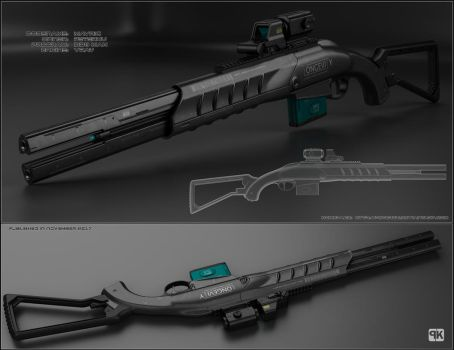 Mavric - sci fi shotgun by peterku