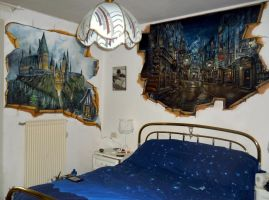 A Very Potter Room... by WormholePaintings