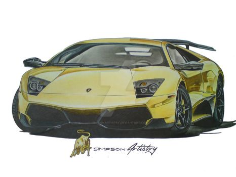 Lamborghini murcielago by SIMPSONARTISTRY