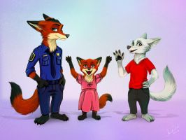 Zootopia family by Amand4