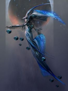 Space Mermaid by Vincent-Covielloart