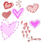 Two Tone Hearts by Red--Roses