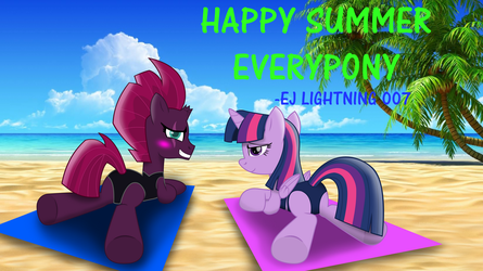 Twilight and Tempest's summer (Text Version) by EJLightning007arts