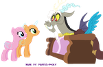 Hanging out with Discord - MLP Base by Pastel-Pocky