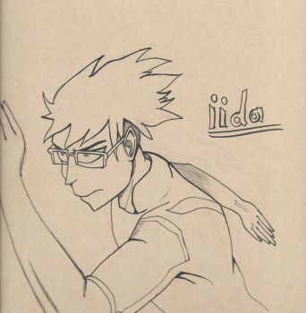 Inktober 11, 2017 (Iida Tenya: My Hero Academia) by KingArthur13th
