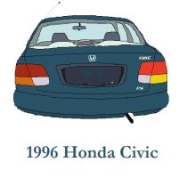 1996 Honda Civic Back by TomIannucci