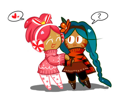 Princess Cookie and Tiger Lily Cookie by emptyruby