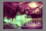 Yivani Forest at Night by OtyugraGames