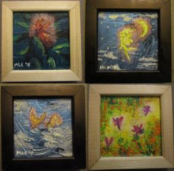 Set of four Framed Faires by dragondoodle
