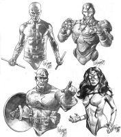 Marvel Heroes Sketches by MicoSuayan