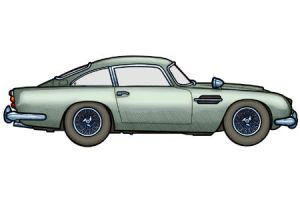 1964 Aston Martin DB5 by 451illustration