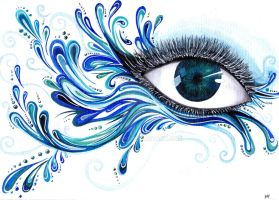 Element  eyes  #1  water by Milli1850
