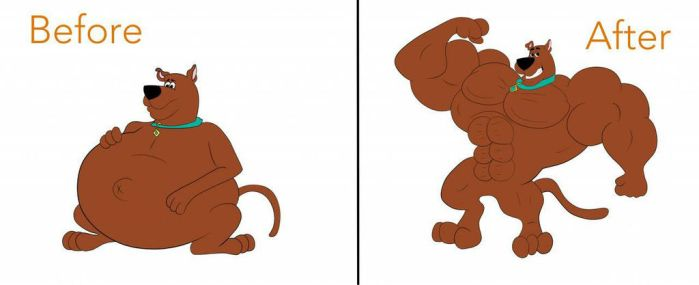 Scooby Doo muscle growth  by buffwolf14