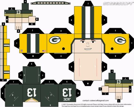 Chris Jacke Packers Cubee by etchings13