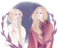 Galadriel and Finrod by Egobarri