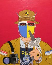 Watchman- acrylic on canvas 2014 by alexander982