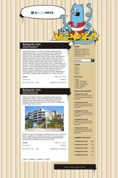Crazy Cat - blog design by Chasar