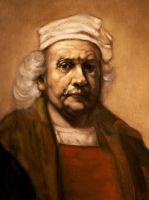 Rembrandt - after 1669 self portrait by DeLumine