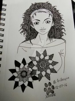 Curly flower by Lunaspup