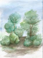 Tree Watercolour by SkyWookiee