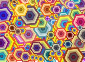Polygon Background Vector by 123freevectors