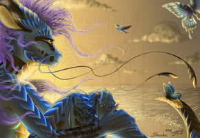 The Silent Wind of the Vivid Dusk by Drerika