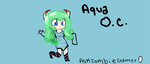 Aqua OC   second style by AskZombieGamer0