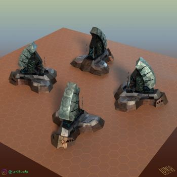 Colony Command Center (3D model/multiple views) by IonfluxDA
