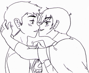 Young Justice - Superboy x Robin kiss by Cloud-Kitsune