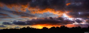 Sunset panorama by digitalminded