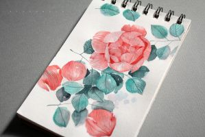 Daily Painting #8 - Rose by tiniugrin
