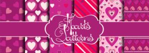 Cute Hearts Patterns by Romenig