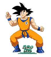 Son Goku Fighting Stance by TuxedoMoroboshi