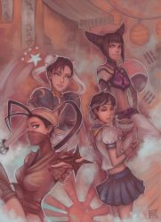 Capcom Fighting Tribute : Asian Fighters by acetea-san