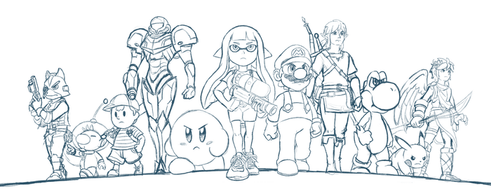 (WIP) Smash Bros. Switch by DeannART
