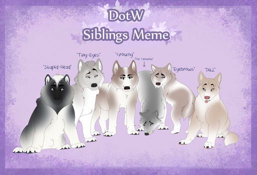 [DotW] Many Beans (Siblings Meme) by IraWolfeh