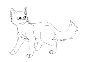 Cat Lineart Paint by StormFalconFire