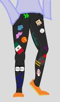 YouTube pants by StarryScorchio4