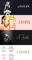+ FONT ARIANA GRANDE PACK by swxt-moon