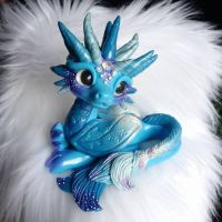 Blue dragon custom order by Azura-Roselion