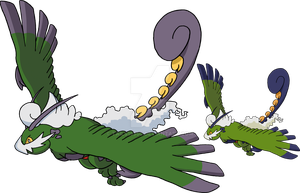 641 - Tornadus (Therian Forme) - Art v.2 by Tails19950