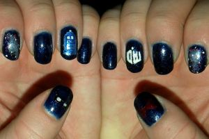 Sea life nail art by quixii on deviantart tardis nail art by quixii prinsesfo Gallery