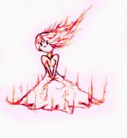 Flame Princess by Ansonlawanga