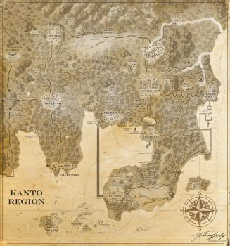Map of Kanto by JoshuaDunlop