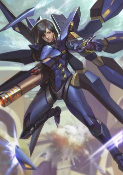 Pharah Strike Freedom ver. by phamoz