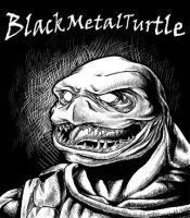 black metal ninja turtle by iridiumape