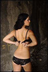 Stacey - black lingerie 3 by wildplaces