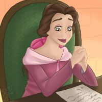 Belle Reading a Note by jessijoke