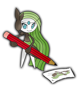 Meloetta by chie by Chii-koditta