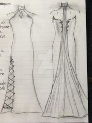 Dress Sketch by Queen-of-Ice101